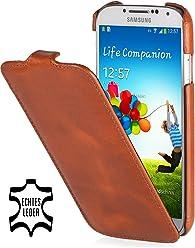 StilGut UltraSlim Case, custodia in vera pelle per Samsung Galaxy S4 i9500, cognac