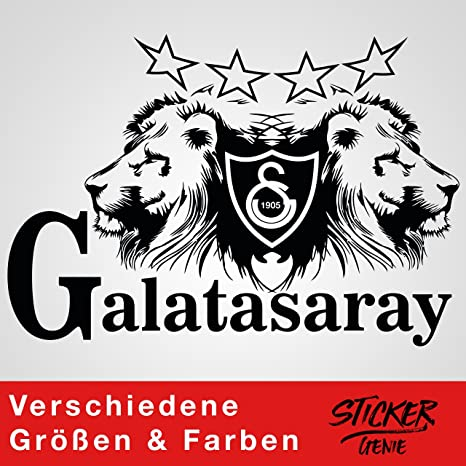 Galatasaray Aslan Wandtattoo Aufkleber Auto Sticker Autosticker Autoaufkleber Istanbul Gala Ultraslan 75cm B X 51 87cm H Schwarz Küche Haushalt