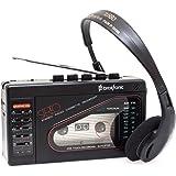 Broksonic Walkman AM/FM Stereo Cassette Recorder with Dynamic Stereo Headphones