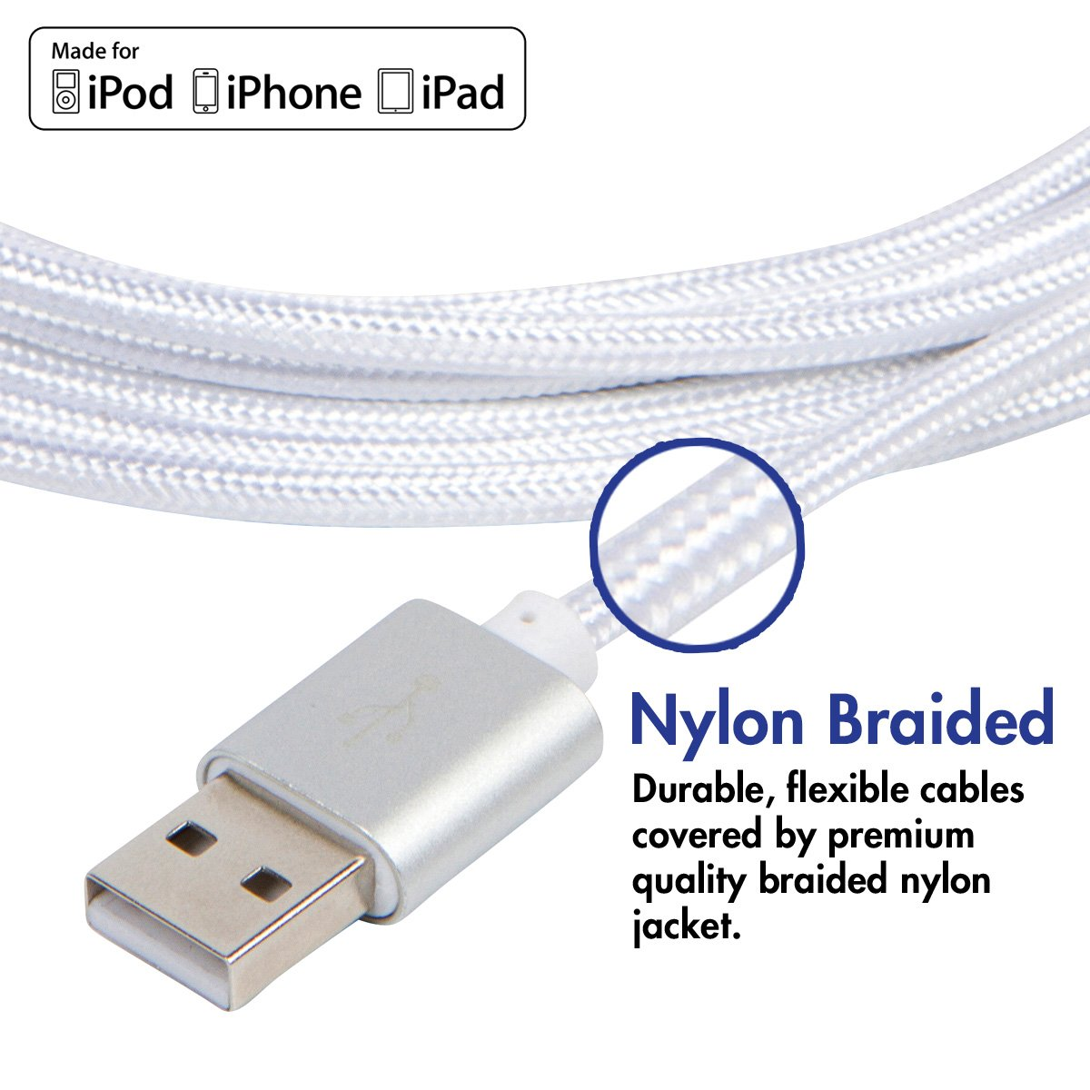 longest iphone charger vcharged 12 ft lightning cable braided usb 12595
