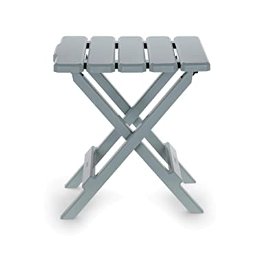 Camco 51682 Gray Regular Adirondack Portable Outdoor Folding Side Table, Perfect for The Beach, Camping, Picnics, Cookouts and More, Weatherproof and Rust Resistant