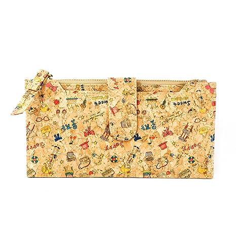 VEGAN Colección Wallet Cartera de viaje para mujeres y niñas hecho de corcho