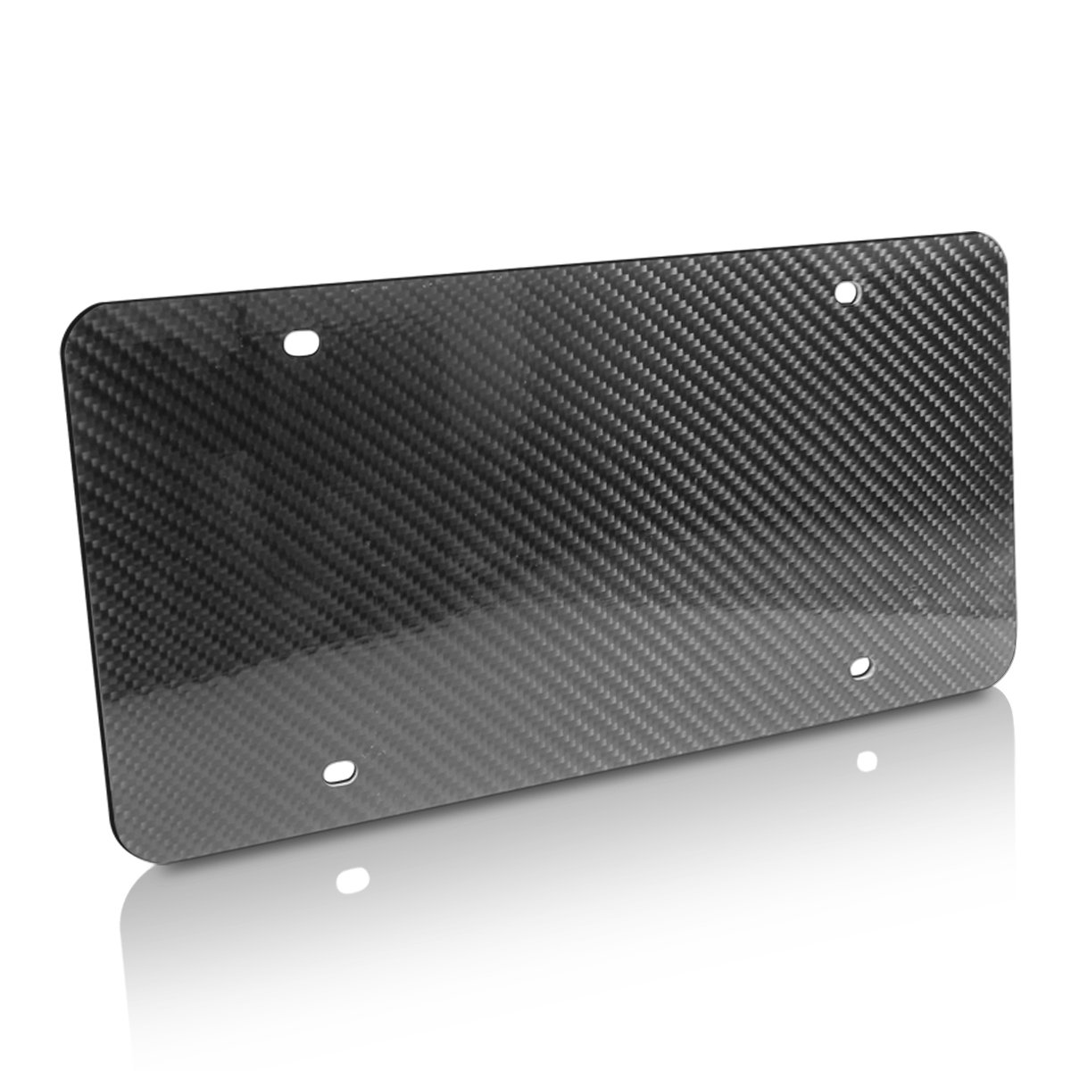 Genuine Hand Made Carbon Fiber Glossy Blank Auto License Plate Car Beyond Store