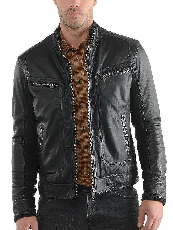 Laverapelle Men's Lambskin Real Leather Jacket Black - 1510150