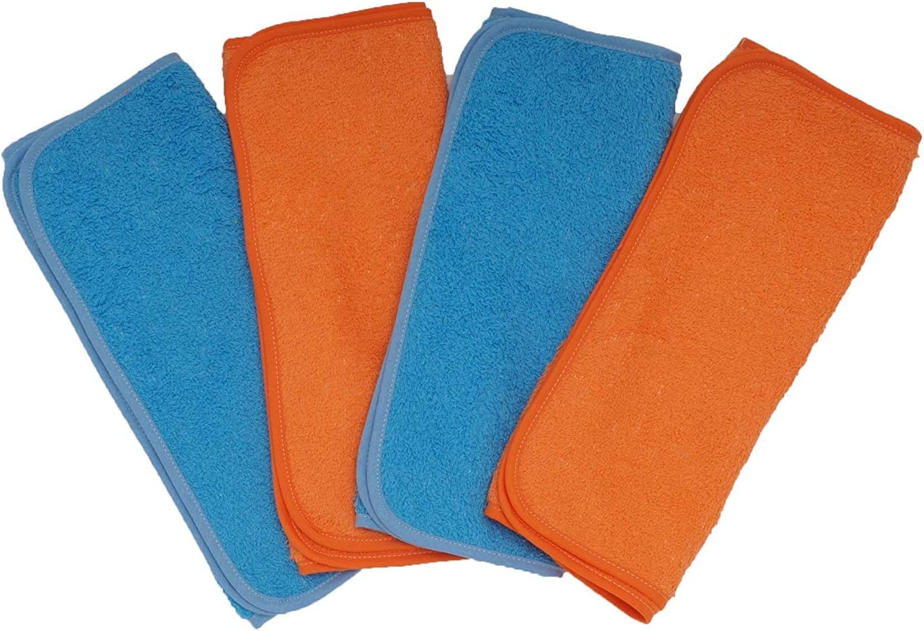 Ti TIN Lot de 4 Serviettes de cr/èche en /éponge Bleu//Orange