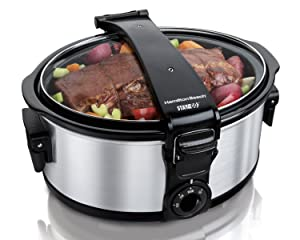 Hamilton Beach 33461 Stay or Go 6-Quart Portable Slow Cooker