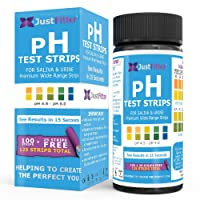 Just Fitter pH Test Strips for Testing Alkaline and Acid Levels in The Body. Track...