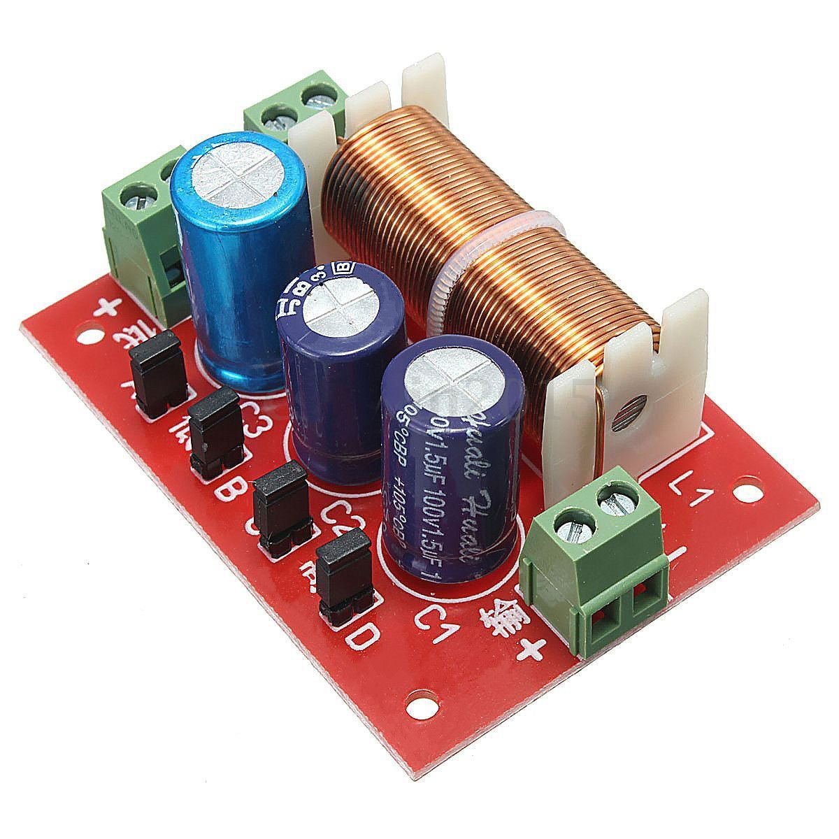 Qianson 400w Ajustable Treble Bass Frequency Divider Way Speaker Crossover Circuit Schematic Electronics Distributor 2 Audio Filters Home Theater