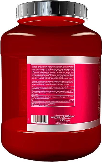 Scitec Nutrition 100% Whey Protein Professional Proteína Ligeramente Endulzado Chocolate 2350 g