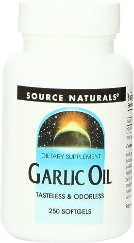Source Naturals Garlic Oil, Tasteless Odorless - Dietary Supplement - 250 Softgels