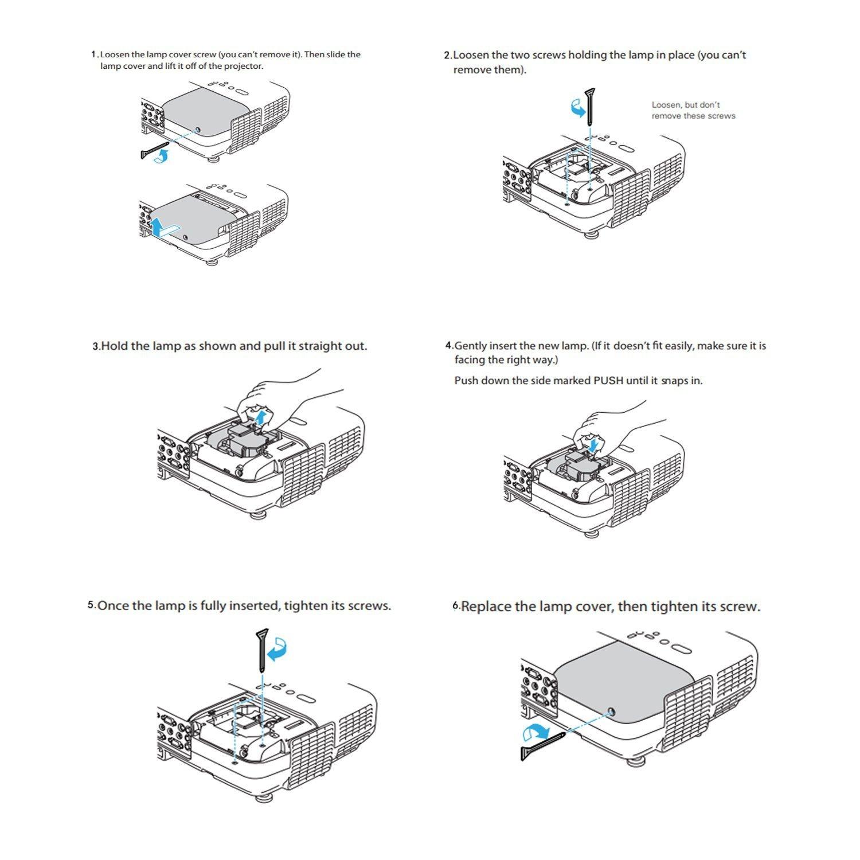 HC5000 Lampada proiettore vlt-hc5000lp per Mitsubishi HC4900/HC4900/W HC5000BL HC5500/HC6000BL NSH180/W
