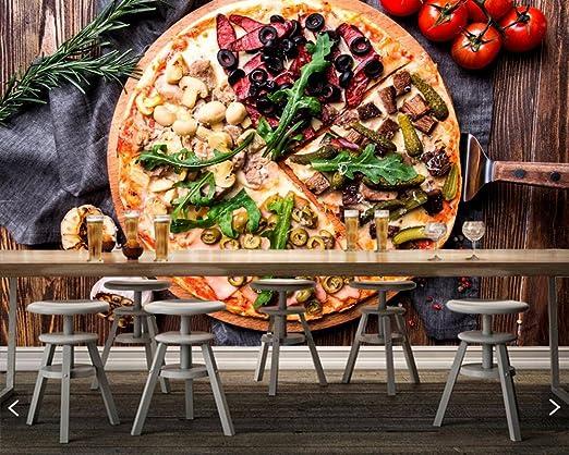 Jonp 3D Papel pintado Wallpaper Comida Rápida Personalizada Pizza ...