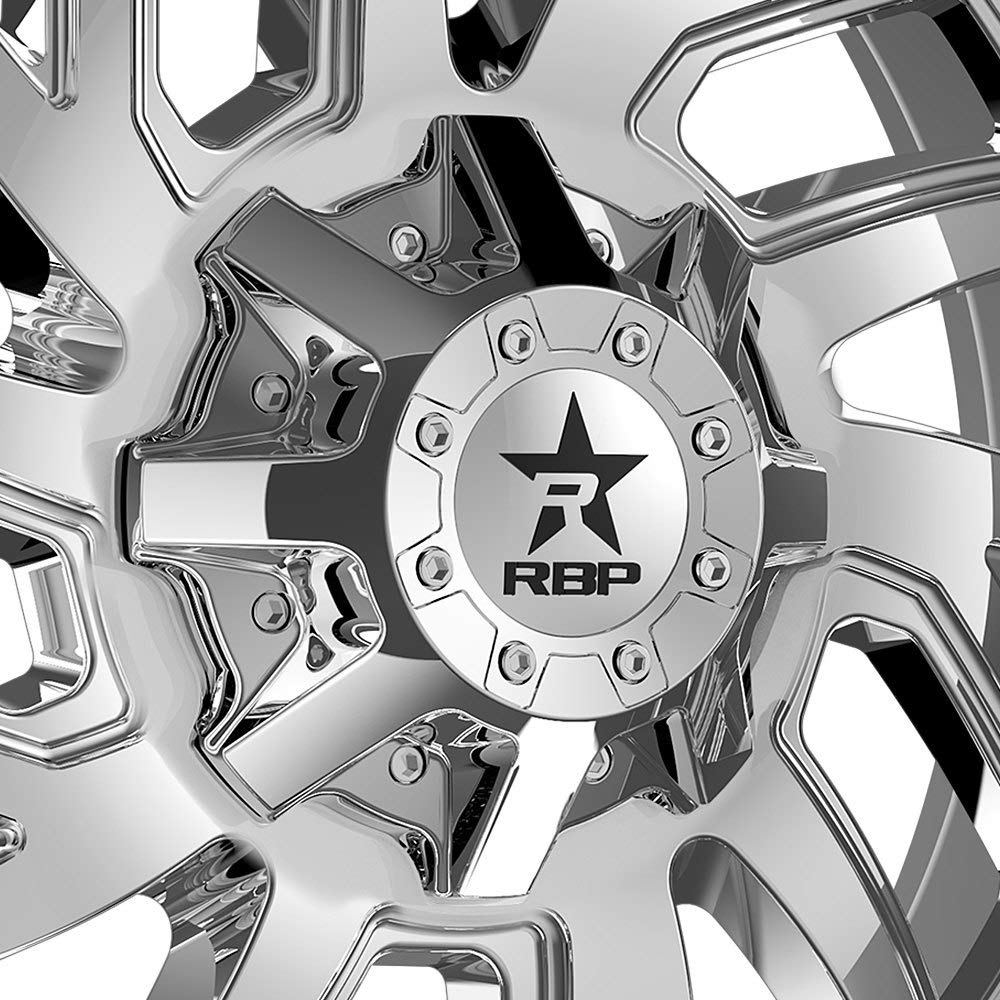 8x6.5 //8x170-44mm Chrome Wheel Rim RBP 65R Glock 20x12 8x165.1