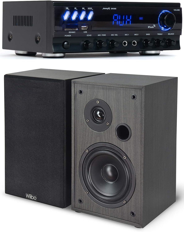 Audibax Equipo HiFi Multimedia Karaoke Zero 500 + Altavoces ...