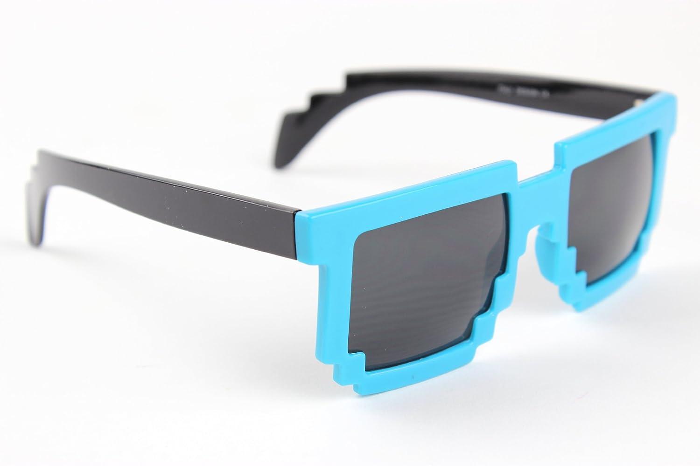 Amazon.com: anteojos Pixel 8 bit Retro anteojos de sol Nerd ...