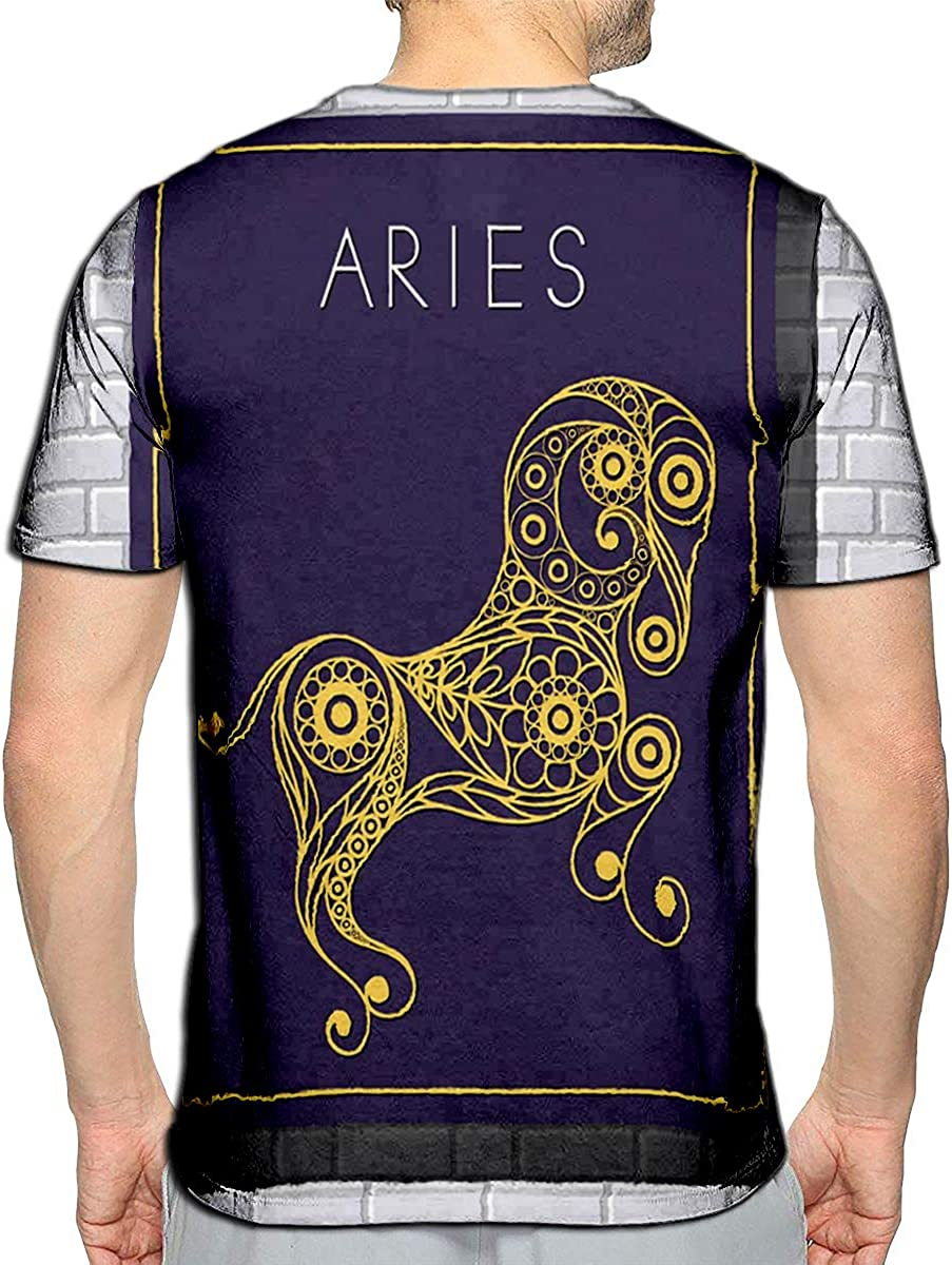 3D Printed T-Shirts Lined Abstract Ink Horses Mirror Heads Short Sleeve Tops Tees