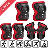 Uggkin Kids Protective Gear Set Knee Pads Elbow Pads Wrist Guards 3 in 1 Safety Pads Set for Kids for Cycling Skating…