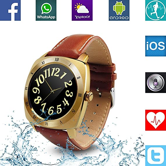 Amazon.com: Banaus B3 IP53 Waterproof Sport Fashion Smartwatch with Heart Rate Monitor Bluetooth 4.0 for Samsung S4/S5/S6/S7/Note3/Note4/Note5/Note6 Sony LG ...