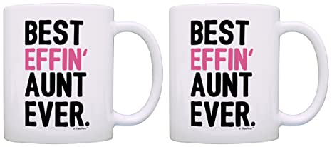 Mothers Day Gifts For Aunt Best Effin Aunt Ever Gift Ideas For Aunt Gifts From Niece 2 Pack Gift Coffee Mugs Tea Cups White