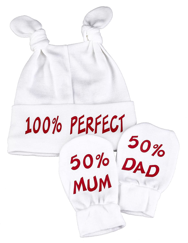 Spoilt Rotten - 100% Perfect Knot Hat & 50% Mum And 50% Knotenmütze & Kratzhandschuhe Babyset 99999BO