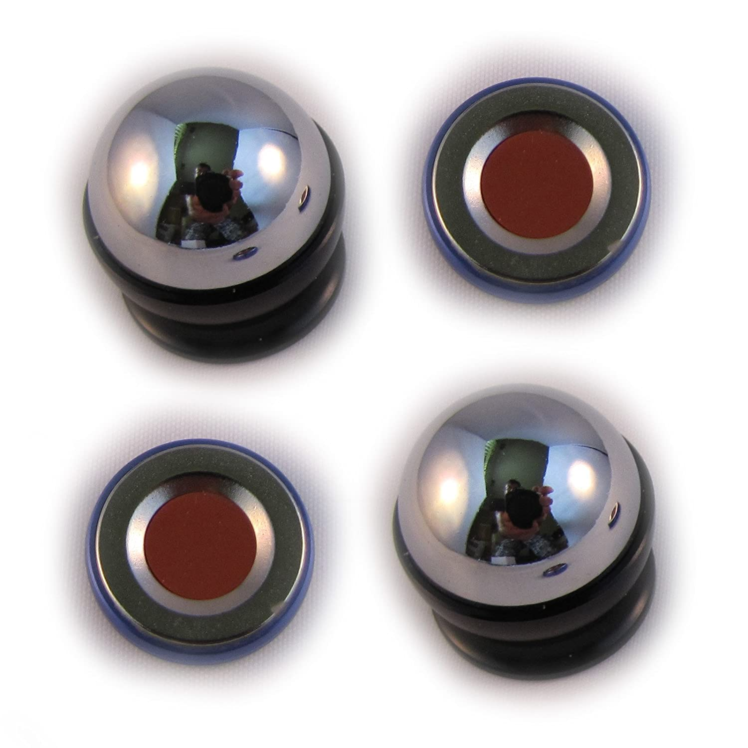 DOUBLE Magnetic Dash Mount Kit for Cell Phones. 2 Dash Balls and 2 Strong Neodymium Magnets (2 Magnets + 2 Balls) Autoteline OMEL-EZ-PN-6721595