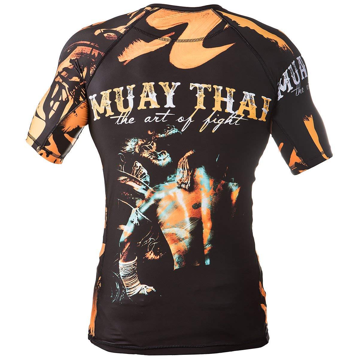Rule Out Manga Corta Camiseta De Neopreno camiseta Muay Thai The Art Of Fight Gimnasio entrenamiento Fitness Correr Ciclismo Compresi/ón camiseta MMA Ropa para combate