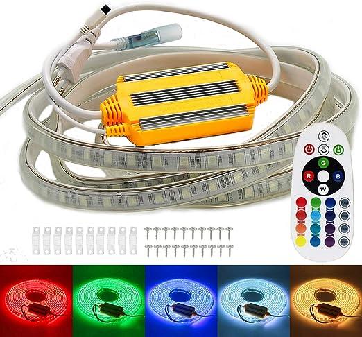 220V 230V 5050 RGB LED Licht Streifen stripe band wasserdicht ip67 Lichtstreifen