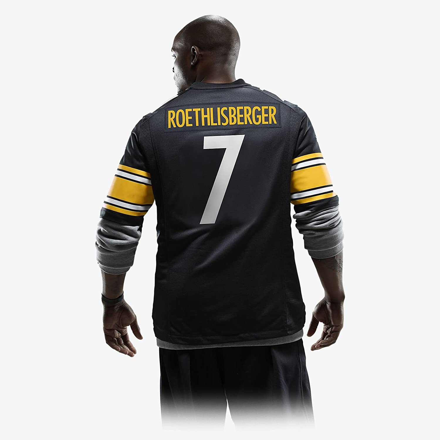 a6fb8f3f4 Amazon.com   Nike Pittsburgh Steelers Ben Roethlisberger Jersey - Sport  Central Not Fake   Sports   Outdoors