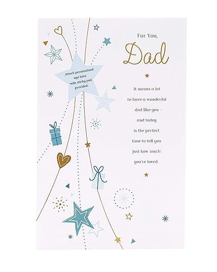 Tarjeta de cumpleaños para papá, tarjeta de regalo para él ...