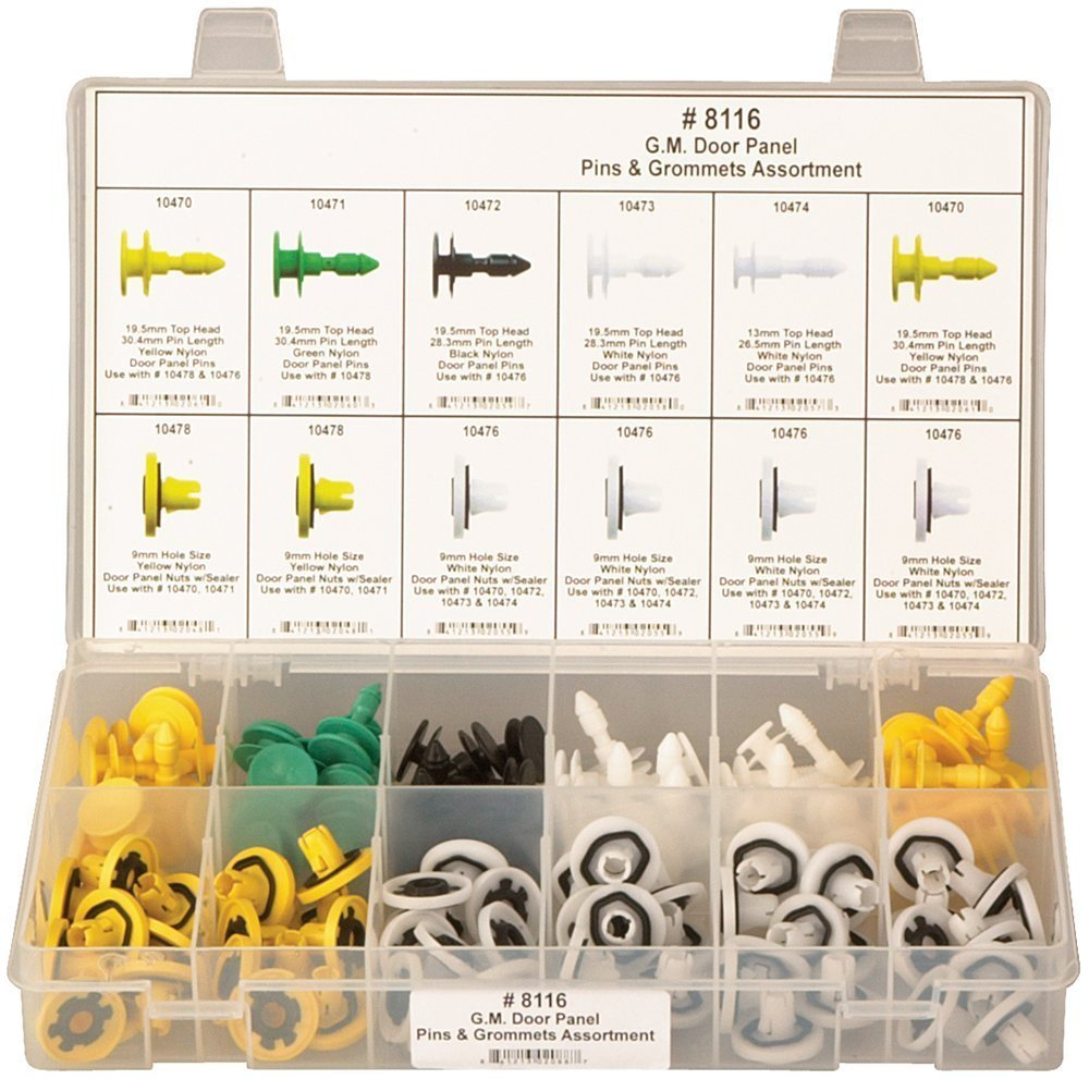 Clipsandfasteners Inc 120 Piece Door Trim Panel Retainer Assortment For GM