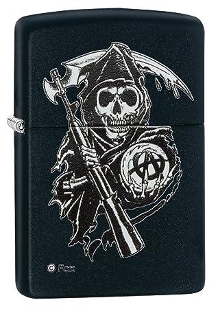 Geliebte Zippo Sons of Anarchy Reaper Windproof Pocket Lighter - Black @XV_33
