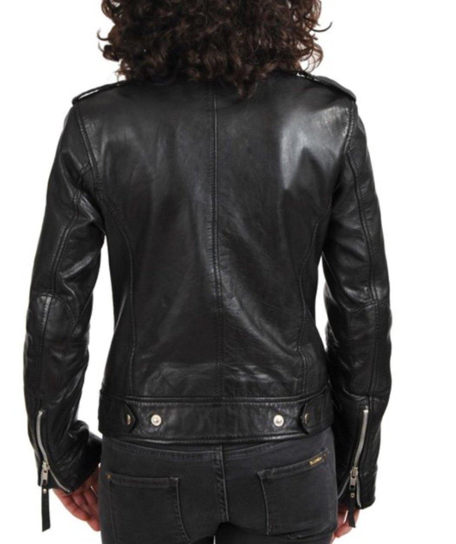 World Of Leather Women's Biker Moto Leather Jacket (S) by Leather World Ltd. (Image #3)