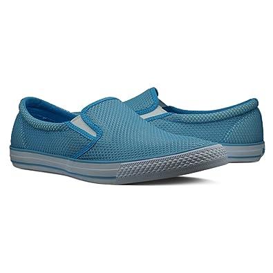 292ed55c4f5b3 Burnetie Men's Blue Skid LL Mesh Sneaker