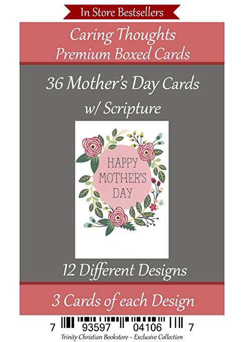 mothers day 36 card religious christian mothers day box card set with scripture in every