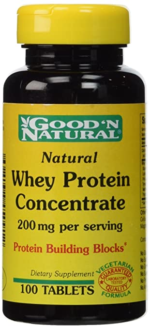 Amazon com: Good 'N Natural - Natural Whey Protein Concentrate 200