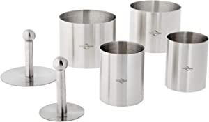 Küchenprofi Stainless Steel 6-Piece Forming Rings with Tamper/Pushers