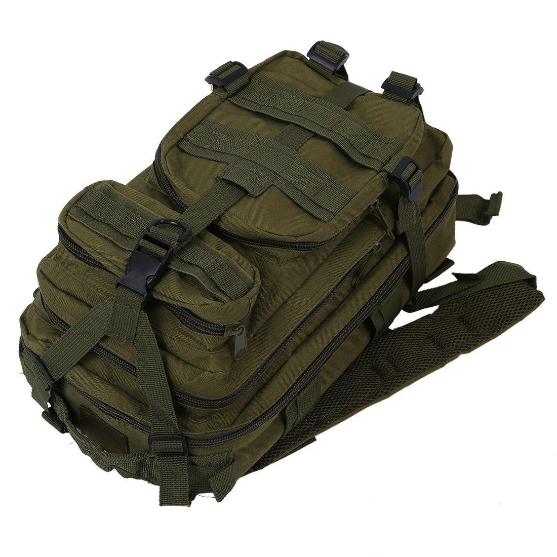 TOOGOO 30L Tactique Exterieure Militaire Sac a dos Camping Sac a dos Randonnee Trekking Sac R Vert