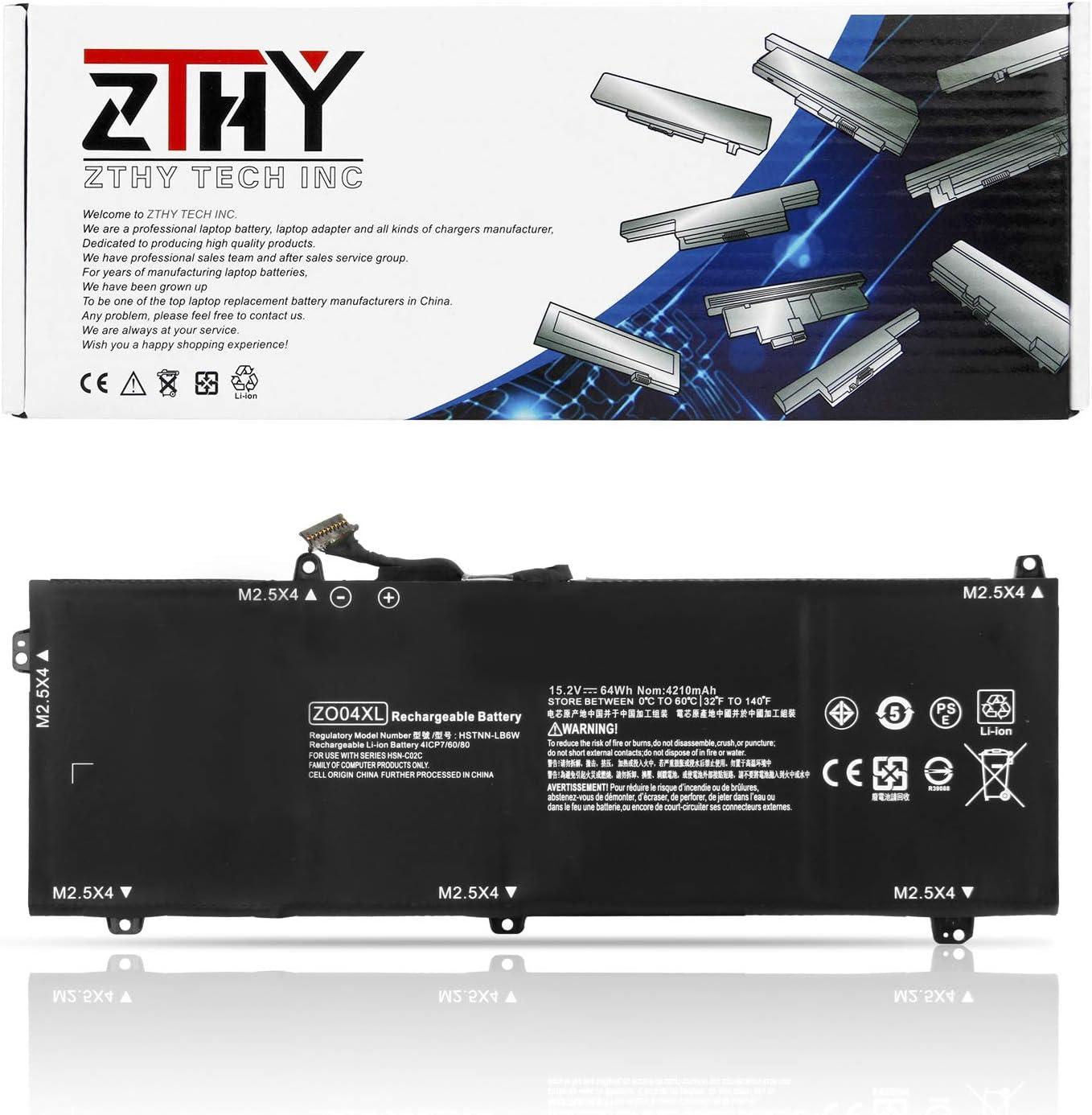 ZTHY ZO04XL Laptop Battery Replacement for HP ZBook Studio G3 G4 Mobile Workstation Series ZO04 ZO06 ZO06XL 808396-421 808450-001 HSTNN-CS8C HSTNN-C88C HSTNN-LB6W 15.2V 64Wh