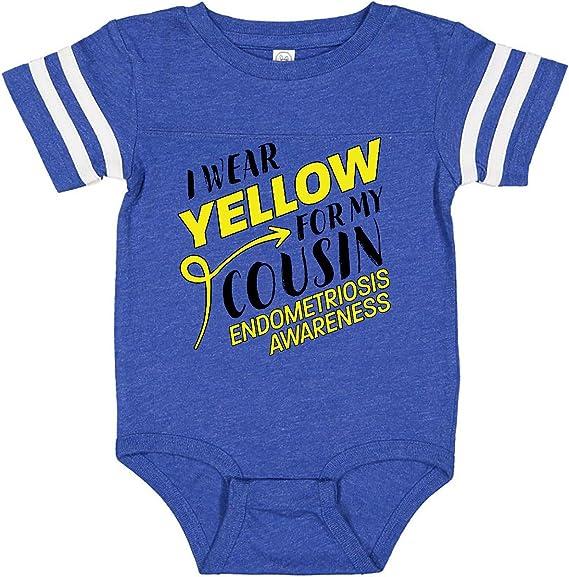 Endometriosis Awareness Baby T-Shirt inktastic I Wear Yellow for My Cousin