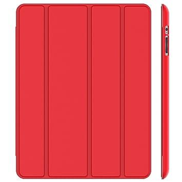 JETech 0216- Funda para iPad 4, iPad 3 y iPad 2, Carcasa con Soporte Función, Auto-Sueño / Estela, Rojo