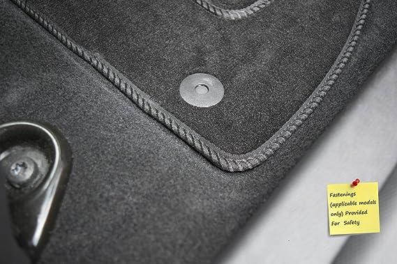 Connected Essentials CEM650 7 Series Premium Car Mat Set Grey with Blue Trim 2002-2007