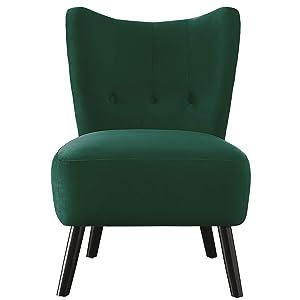 Homelegance Imani Velvet Accent Chair, Green