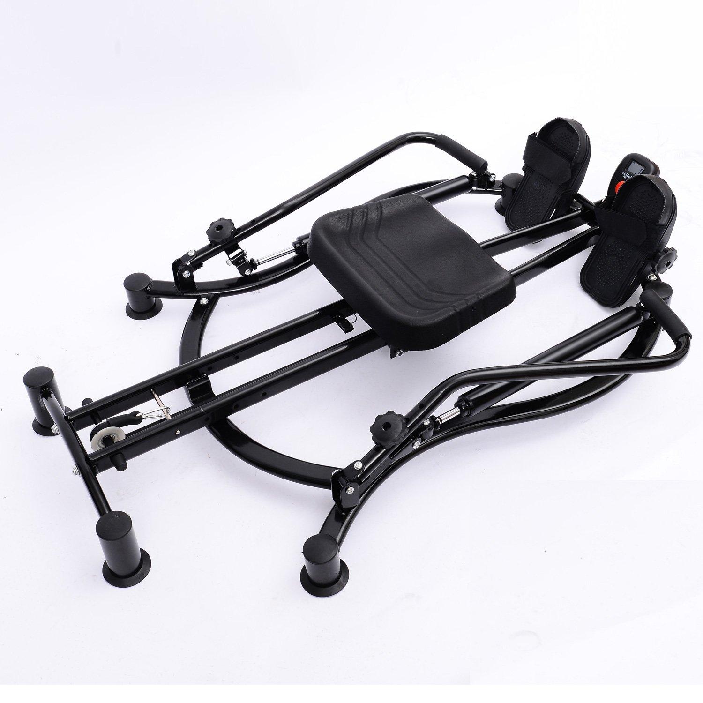 HOMCOM Dual Hydraulic Rowing Machine Rower Workout Fitness Gym ...