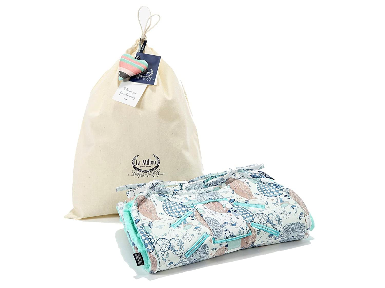 La Millou Car Seat Liner,Soft Thick Hypoallergenic Filling Moonlight Swan - Powder Pink Reversible Stroller Pad