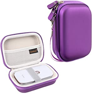 Canboc Carrying Case for HP Sprocket Portable Photo Printer and (2nd Edition), Polaroid Zip Mobile Printer, Lifeprint 2x3 Photo and Video Printer, Mesh Pocket fit Photo Paper and Cable, Purple