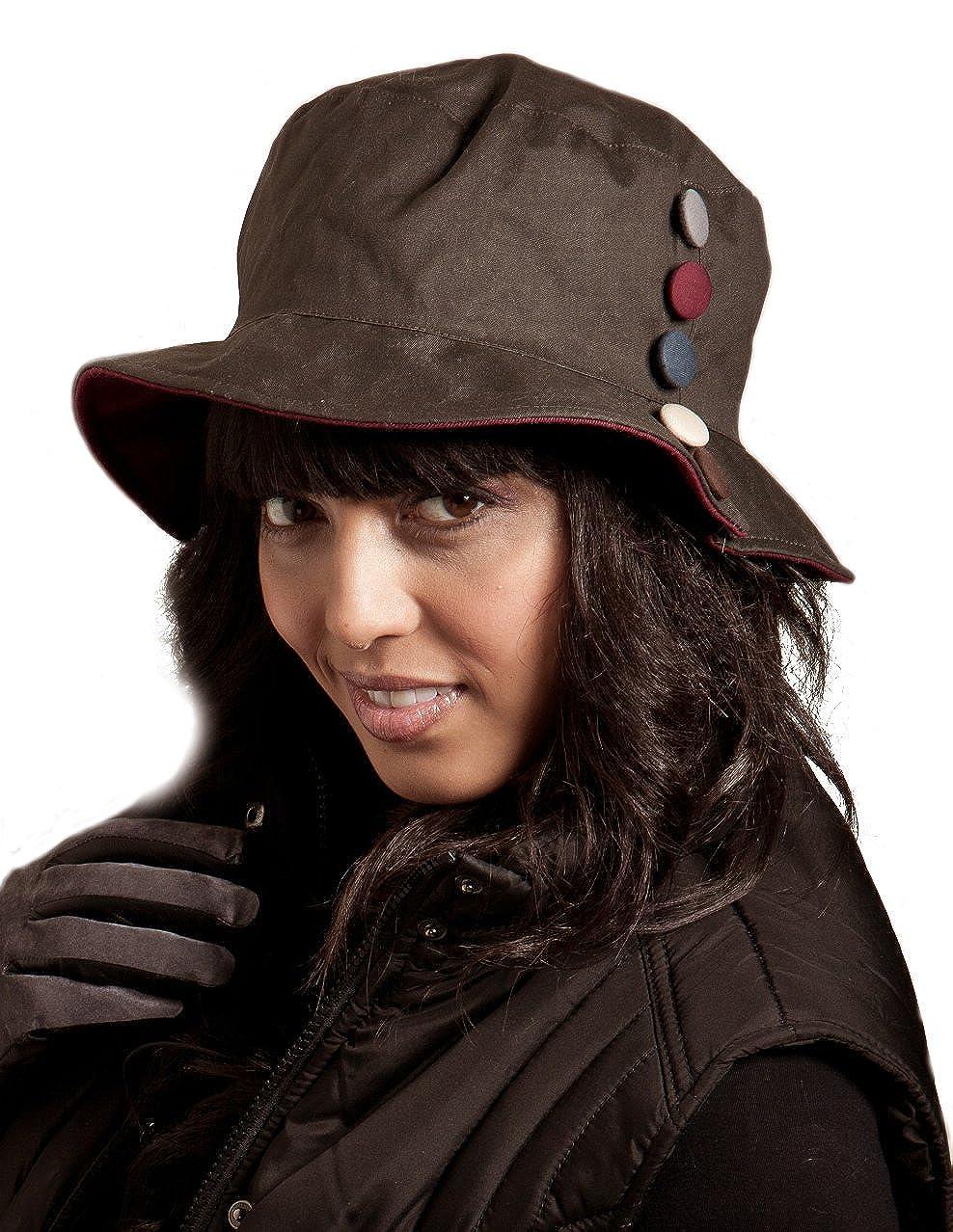 Bramcote Ladies Wax Cotton Cloche hat