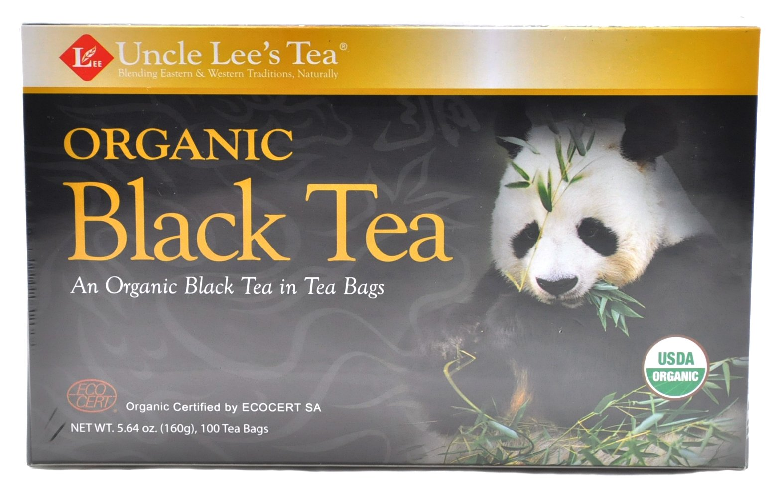 Uncle Lees Organic Black Tea (1) 100 Bag Box