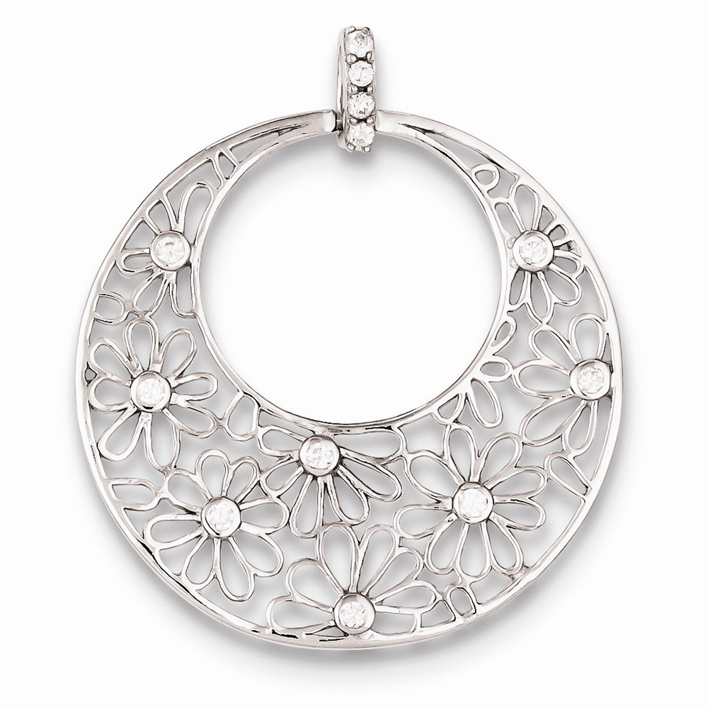 Jewelry Stores Network Sterling Silver CZ Pendant