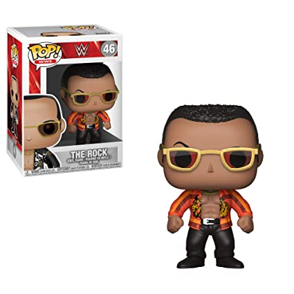 4c1604258f0 WWE  - The Rock Old School (Styles May Vary) Collectible Toy  Funko Pop! Wwe    Toys   Games