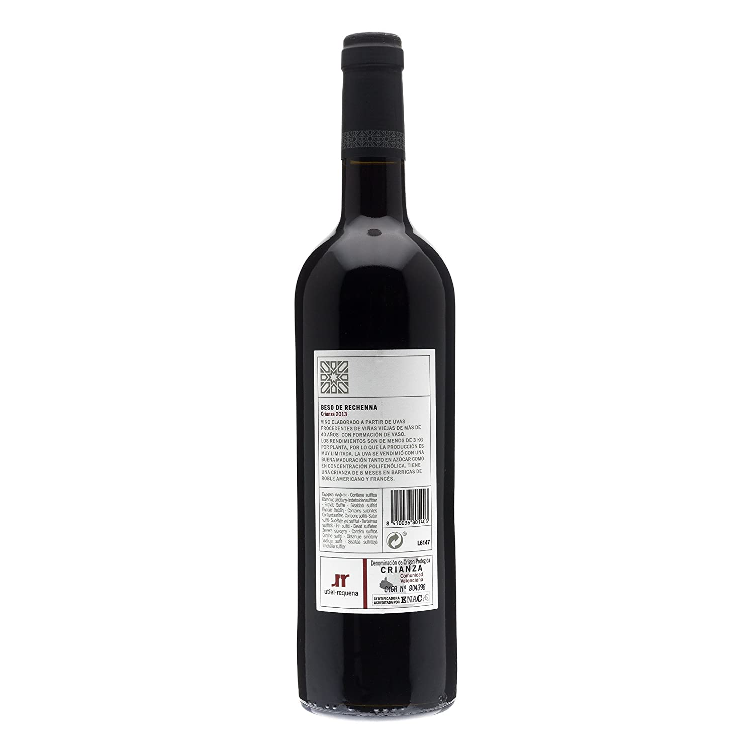BESO DE RECHENNA vino tinto Do Utiel Requena botella 75 cl: Amazon.es: Alimentación y bebidas